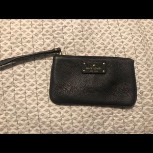 Gray pebbled leather Kate Spade clutch